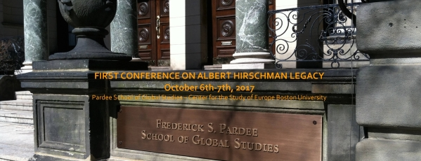 First Conference on Hirschman Legacy