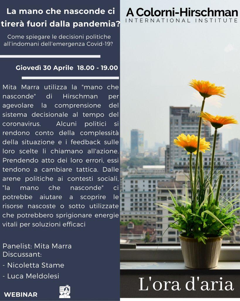 Locandina ora daria seminario 30 aprile 2020